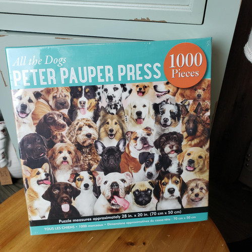 1000 Piece Puzzle-All the Dogs