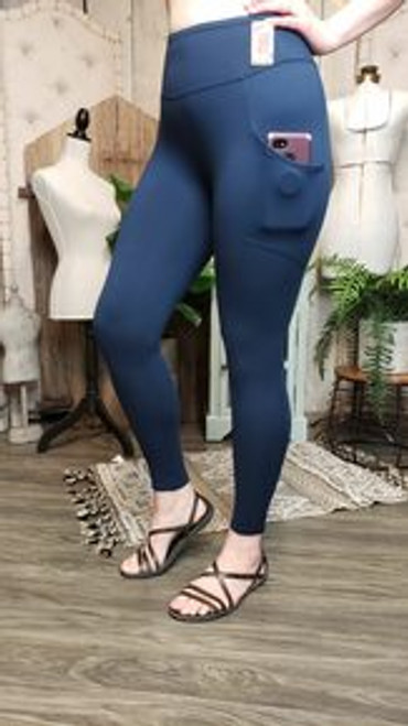 Buttery Soft Yoga Pocket Legging - Navy