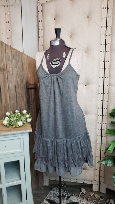 Traditional Layering Dress - Grey