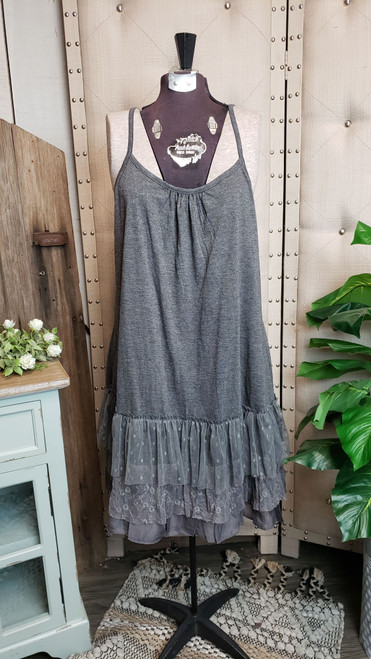 Curvy Traditional Layering Dress - Grey