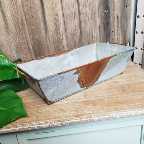 Rusty Zink Rectangle Tray