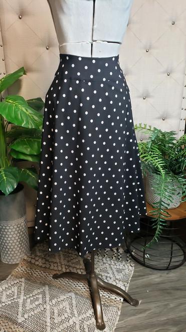 Curvy Polka Dot Classic Pocket Skirt