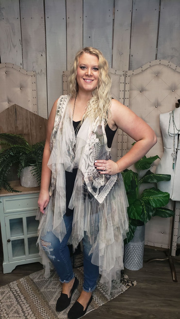 Curvy Long Tulle Vest - Italy