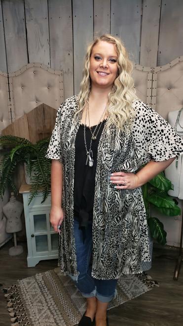 Curvy Wild Life Kimono