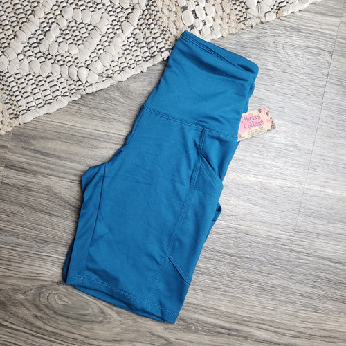 Buttery Soft Pocket Shorts-Teal
