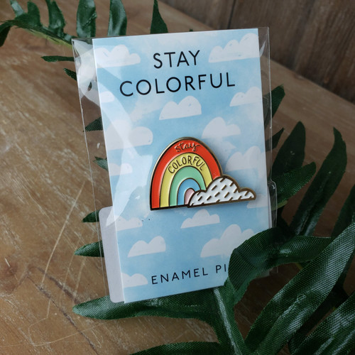 Stay Colorful Pin