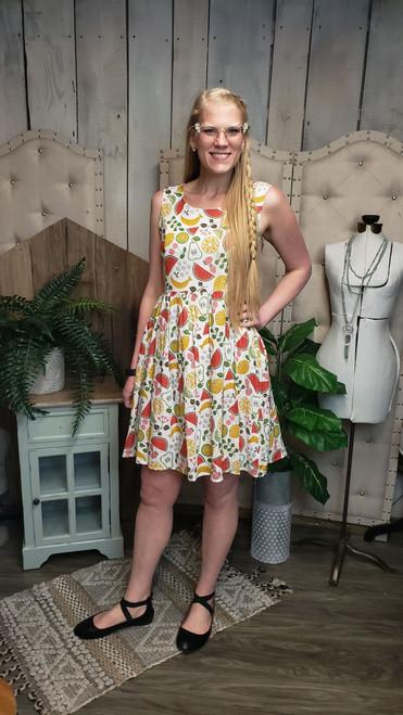 Ida Retro Dress - Fruit