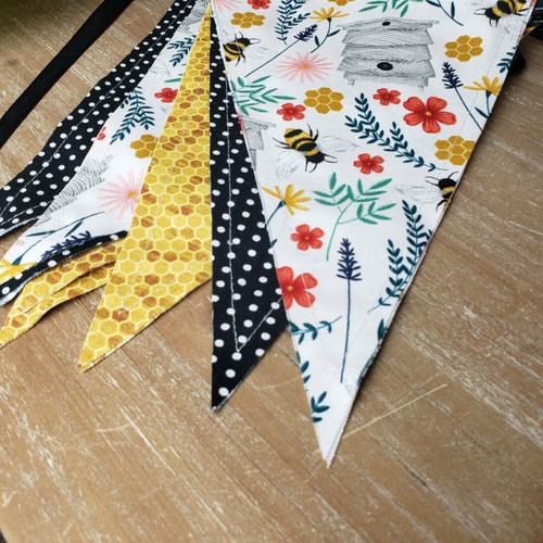 Handmade Flag Banner-Bee Hive