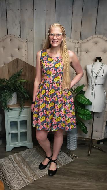 Margaret Floral Retro Dress