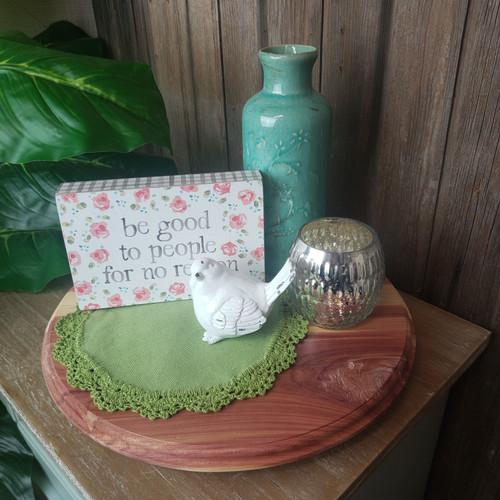Medium Katrin Hand Made Wood Tray-Red Cedar