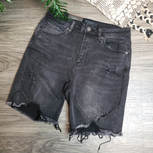High Waisted Black Westin Shorts