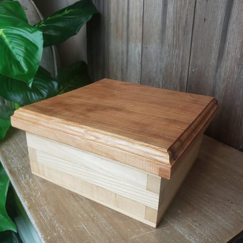Short Trinket Box-Ash & Cherry