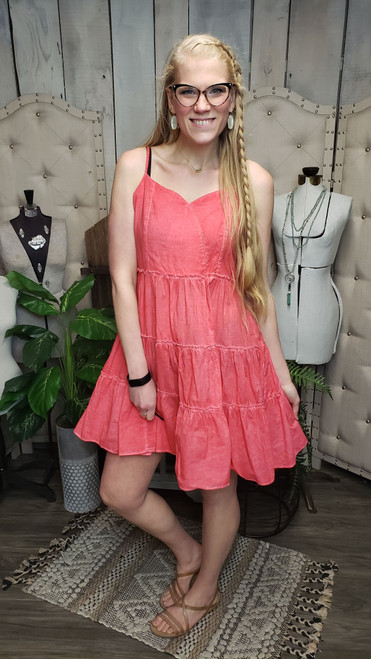 Spicy Coral Sundress