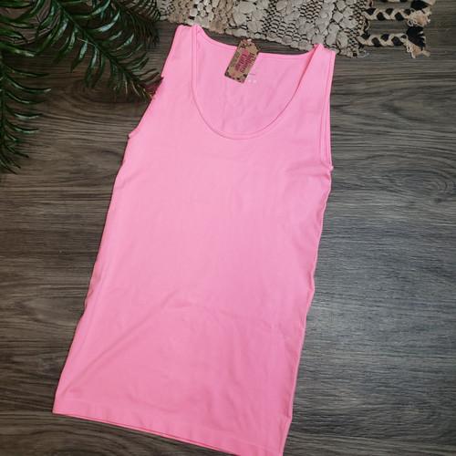 Basic Tank-Bright Pink