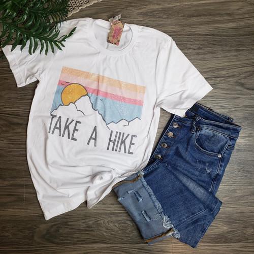 Take A Hike Tee-White