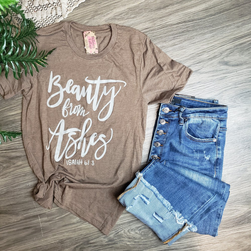 Beauty From Ashes Tee-H. Brown