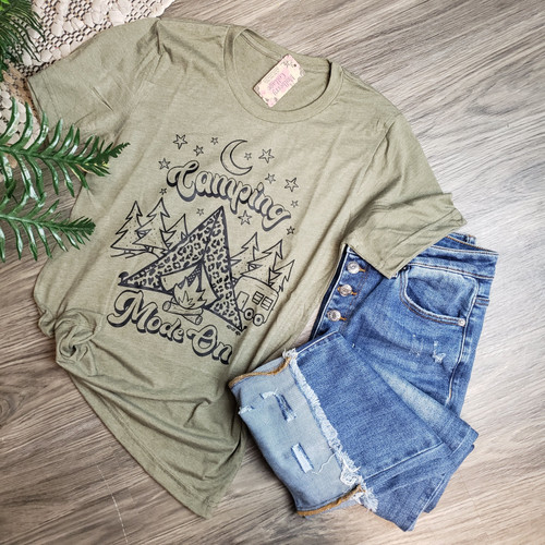 Camping Mode Tee-Olive