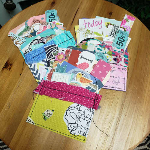 Small Stuffed Embellished Library Pockets