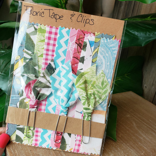 Flower Girl Collection Fabric Washi&Clip Set
