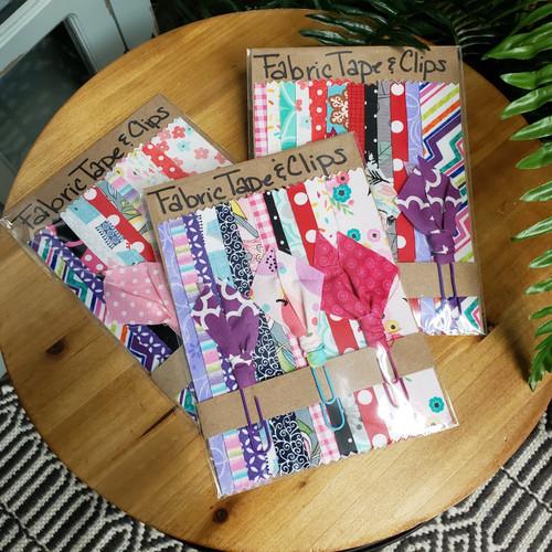 Fabric Washi Tape & Clip Set