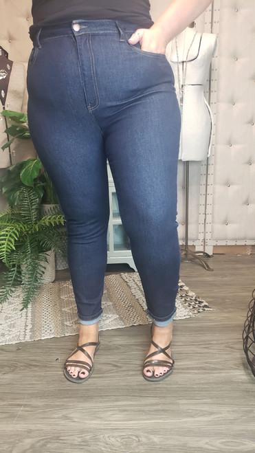 Curvy High Rise Clean Classic Skinny