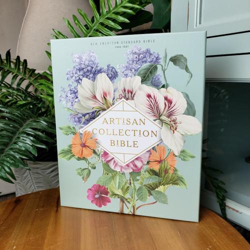 NASB Artisan Collection Bible-Sage Floral
