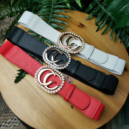 Double Ring CC Buckle Belt