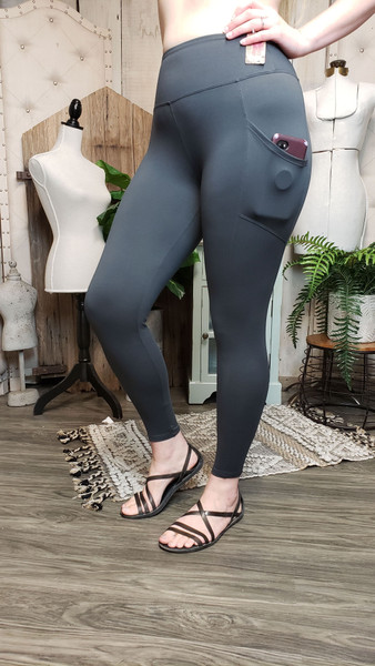 Buttery Soft Yoga Pocket Legging - Ash Grey