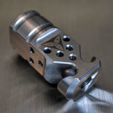 HADES Hybrid Gen2 Muzzle Device - Stainless - 1/2x28