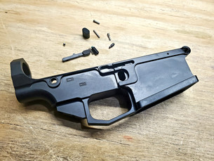 80% AR10 Lower Raw Billet Black Anodized