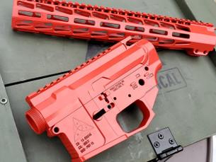 PMT-15 Billet AR15 Reciver Set & Handguard - XSLICK RED