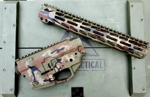 PMT-15 Billet AR15 Reciver Set & Handguard - Woodland Camo