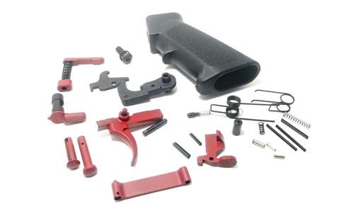AR15 RED Lower Parts Kit LPK