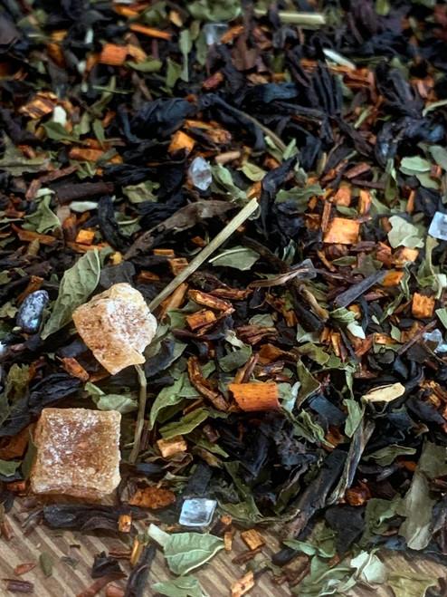 Sisters Tea Company Mint Julep Black Tea close up