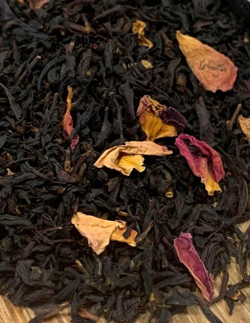 Sisters Tea Company Peach Passion Black Tea close up