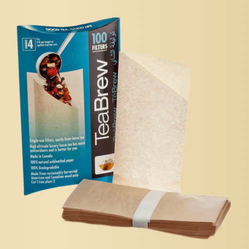 Size 4 TeaBrew Filters, package contains 100 filters