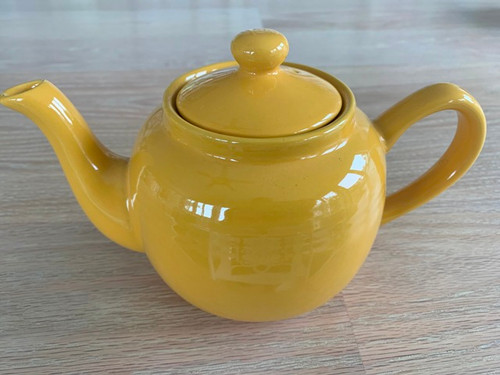 tea pot, 3 cup yellow tea pot, gold tea pot