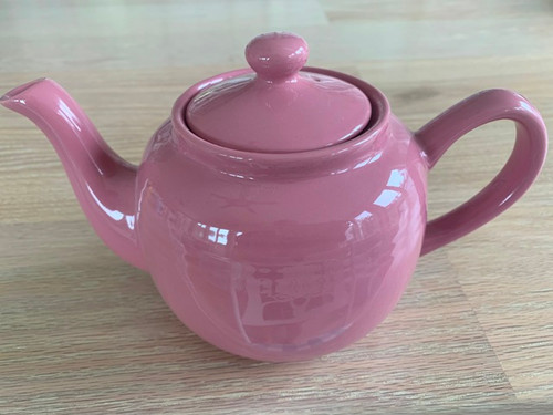 rose tea pot, pink tea pot, 3 cup tea pot
