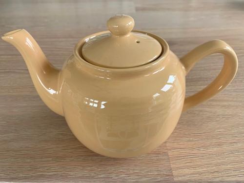 sienna tea pot, cream tea pot, butter tea pot