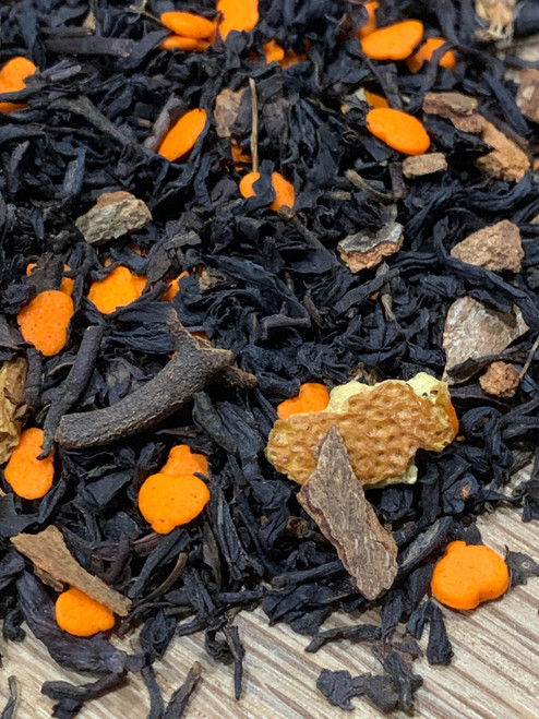 Sisters Tea Company Spiced Pumpkin Black Tea close up