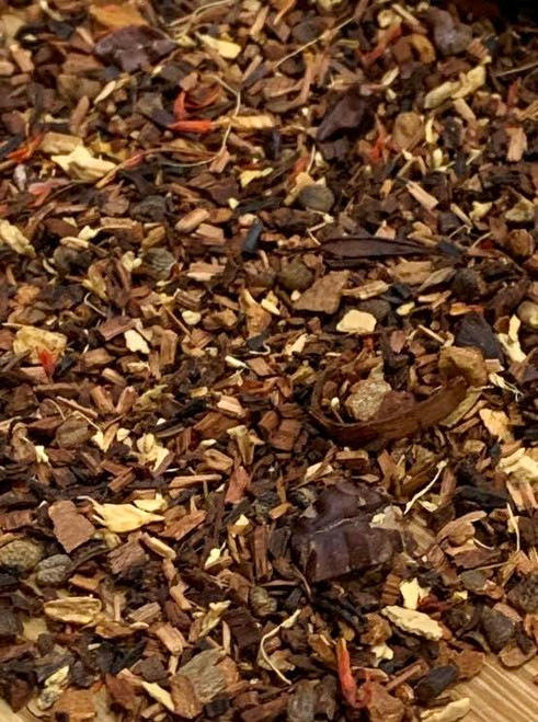 Sisters Tea Company Pumpkin Chai Spice Honeybush Tisane close up
