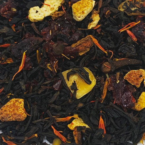 Orange, red apple, cherry and almond all dance upon your taste buds, but clove plays the principle role in this festive cuppa.