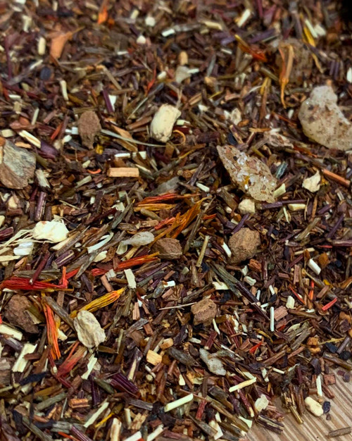 Sisters Tea Company Figgy Pudding Rooibos closeup