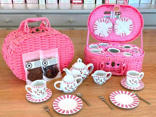 Child's Rose Pattern Tea Set with FREE tea