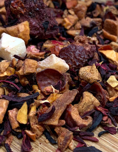 Sisters Tea Company Lady Hannah Fruit and Herb Tisane close up