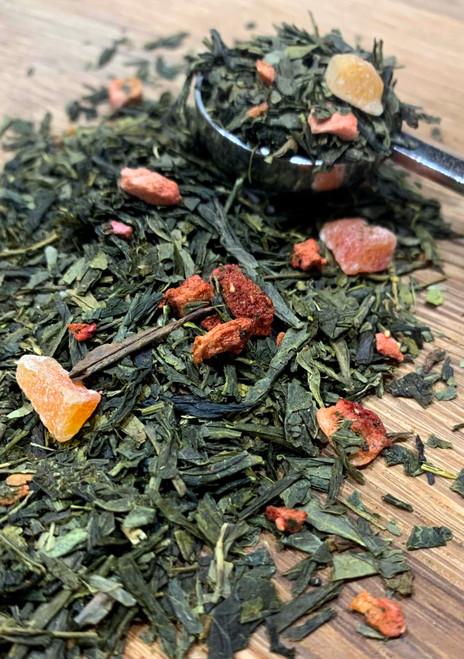 Sisters Tea Company Island Strawberry Green Tea