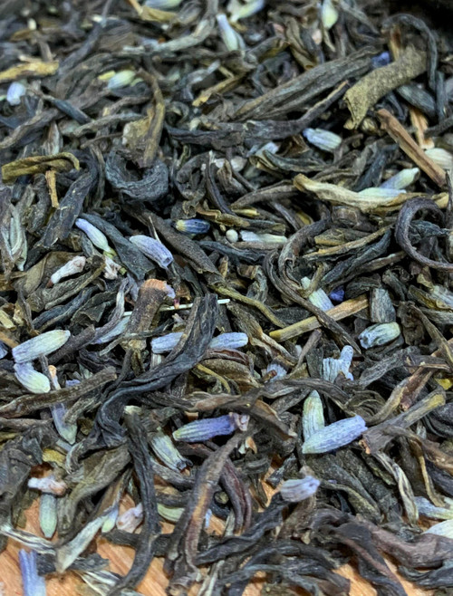 Sisters Tea Company Lavender Butterfly Green Tea close up