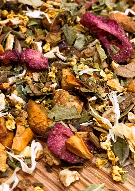 Sisters Tea Company Cherry Festival Fruit & Herb Tisane close up