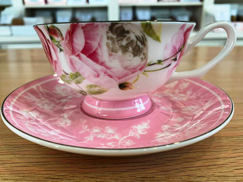 Sisters Tea Company Paris Pink Teacup and Saucer