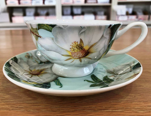 Sisters Tea Company Garden Gate Teacup and Saucer